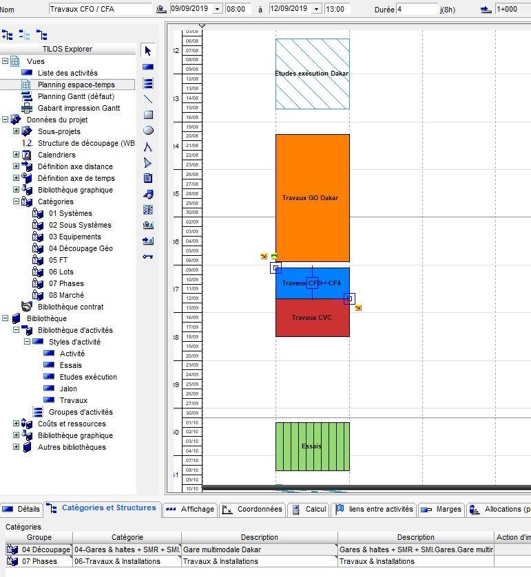 Planification Travaux avec logiciel Tilos